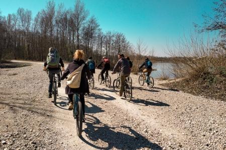 Réunion à vélo Miribel Jonage
